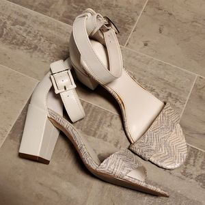 GUC Calvin Klein White Snake Heels